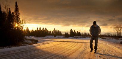 Benefits of morning walk snow